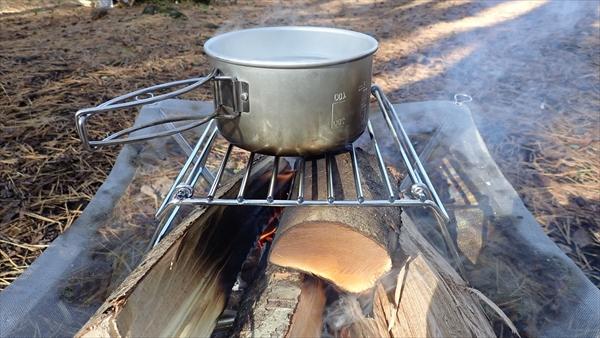 台 自作 焚き火